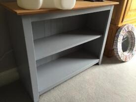 Light grey small bookcase storage cabinet unit