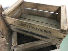 9 Wooden Apple Crates