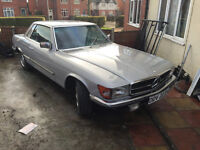 mercedes benz 280 SL 1980 COUPE LOW MILES ALL PAPER WORK SPARES OR REPAIRS