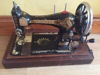 antique singer sewing machine patente 1886