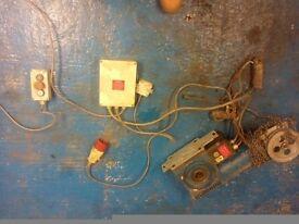 Ind workshop or garage 3 phase roller door motors