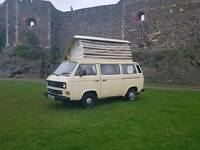 1984 Volkswagen t25 1.6d Devon pop up roof camper 4 berth px recovery
