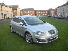 SEAT LEON 1.6 TDI CR ECOMOTIVE SE 10 REG (2010) 5 DOOR SILVER 12 MONTHS MOT ROAD TAX £0