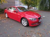 Red BMW 3 Series 2.0 320d SE Coupe 2 Door 3 Owners Sat Nav Service History