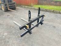 Tractor front loader pallet forks with euro 8 brackets excellent condition