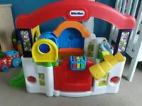 Bundle of baby toys, vtech sit to stand, little tikes activity garden, twirly woos, teletubbies