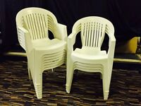 Plastic White Stacking Chairs