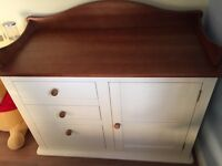 Solid wood Baby change table, with cupboard & 3 drawers