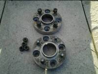 Ford 4 stud pattern wheel spacers 25 Mill