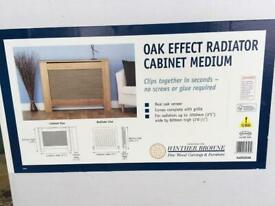 Radiator Cover Double In Wood & Complete & never used.