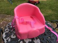 Pink Safety 1st booster seat