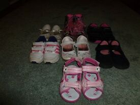Girls shoes, trainers & boots size 8 & 9 mixture - 7 pairs in total *** £15 ono***