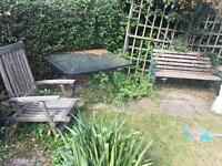 Garden furniture in need of TLC