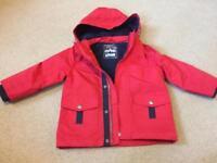 Boys coat 3-4 years lightweight, fleece lining