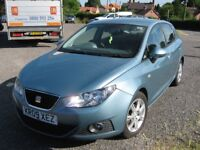 SEAT IBIZA 1.4SE. 5DR. AUG 2009. FSH.12Mths MOT.LOW MILEAGE.AIR CON.ALLOYS.NEW TIMING BELT & W/P.