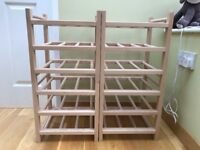 4 Section Wooden Wine Rack