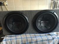 Pioneer sub with amp