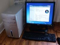 dell inspiron 530 pc computer dell monitor dell keyboard excellent condition