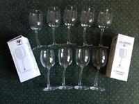 Wine glasses by Chenet with wobbly stems