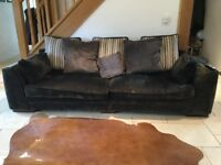 Three seater sofa and snuggle chair for sale