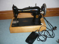 Singer Electric Sewing Machine - with foot pedal & case