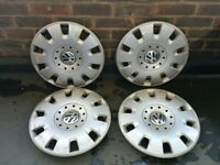 "Genuine VW 15"" hub cap wheel trim x 4"