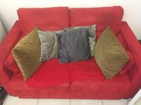 Red sofa bed.