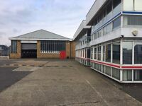 WAREHOUSE, OFFICES, YARD, WORKSHOPS/ GARAGE, FORM 1ST DEC , EASY TERMS TO LET.