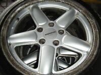 BMW AC SCHNITZER ALLOY WHEELS X 4 ET35 VERY RARE WHEELS GOOD TYRES 17 INCH