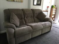 Glasswells 3 Seat Sofa and Chair