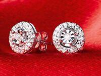 Genuine Diamond 32 Cluster Earrings Brand New & Boxed