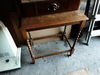 Antique side table for restoration or upcycling