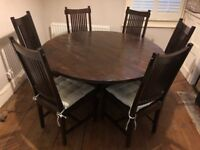 Lombok Round Dining Table & Six Chairs