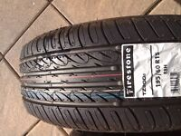 Car tyres Firestone on e of the top makes 195/60/15