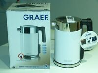 Graef white Multi temperture kettle. As new still in box never used unwanted present