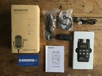 EVISTR L53 Digital PCM Audio Recorder 8GB - mp3 player/voice activation- Boxed