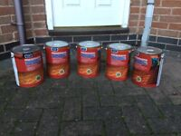 5 X 5 litre tins golden brown £40 the lot can deliver if local call 07812980350