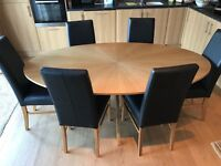 John Lewis Dining Table and 6 Chairs