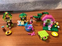 Lego Friends 41019, 41017 and 3934 (Turtle's Little Oasis, Squirrel's Tree House, Mia's Puppy House)