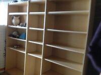Beech Book shelves