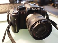 as new complete camera outfit including boxed panasonic lumix g10