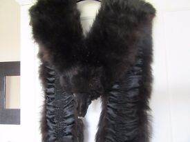 Lady's unusual double black fox fur stole which might be of interest to collectors.
