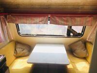 Monza caravan with awning. Sleeps 4.