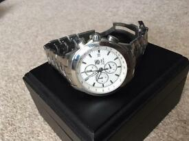 Tag Heuer Link with White Face on Stainless Steel Bracelet