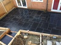 DPM groundwork services,-digger hire- sleeper work, fake lawns, sandstone/limstone paving,fencing