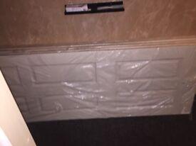 5 brand new white 6 panel doors