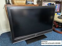 HDTV Sony KDL-40D3000, 40 inches; flat panel