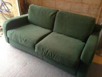 Dark green sofa bed - great conditions