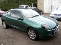 FORD PUMA 1-7 ZETEC SE 16v 3-DOOR SPORTS HATCH 2001 (51 PLATE). 54,000 MILES ONLY.