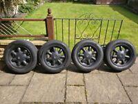 MX-5 Daisy Wheels in Black || 4x100 - ET45 - ⌀54.1